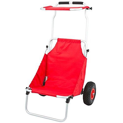 Rage Powersports Red Folding Beach Fishing Chair & Cart
