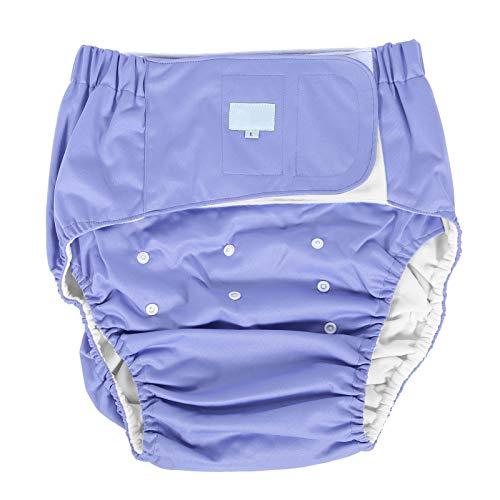 Pañales para adultos, pañal ajustable para adultos paño lavable reutilizable para el cuidado de la incontinencia Pañal para la incontinencia para ancianos(púrpura)