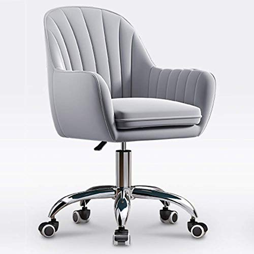 PIVFEDQX Möbel Modernes Design Samt Home Office Stuhl, 360 ° drehbarer Sessel Höhe Verstellbarer Stuhl Schreibtisch,...