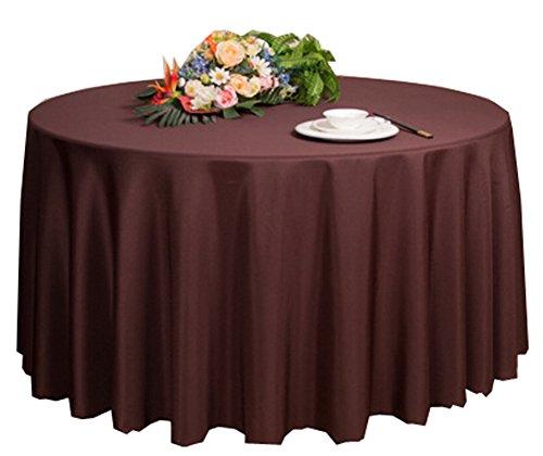 Black Temptation Mariages Banquets Hôtels Accessoires de Table Nappes Rondes 200 * 200cm (Brun foncé)