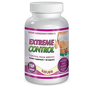 SliMax Extreme Control 60 Capsules Weight Management Formula, Dietary Supplement for 30 Days, Control Your Appetite