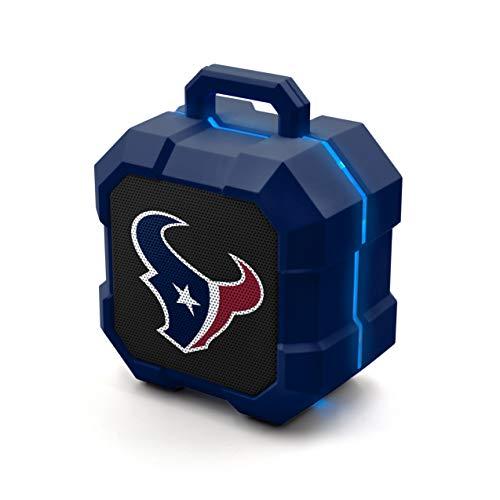 NFL Houston Texans Shockbox LED Wireless Bluetooth Speaker, Team Color