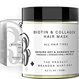 Mascarilla capilar de biotina y colágeno - Mascarilla capilar natural con colágeno y biotina para el crecimiento del cabello b the product