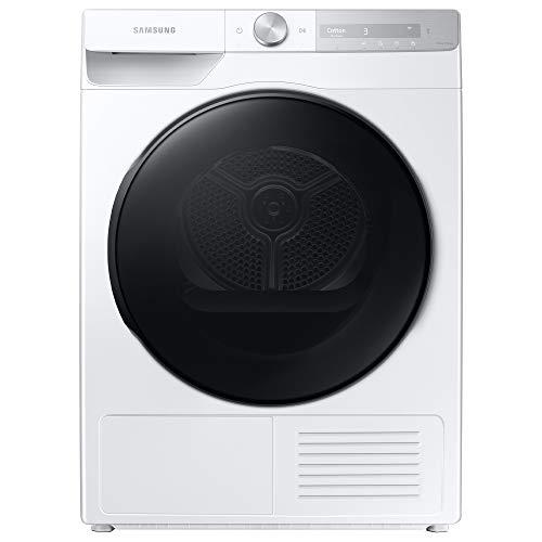 Samsung Asciugatrice DV90T7240BH S3 con AI Control, Asciugatura Rapida in 81 Minuti, Programma Igienizzante, Air Wash, Prevenzione Pieghe, Tecnologia Optimal Dry, Filtro 2 in 1, Bianco, Oblò Nero