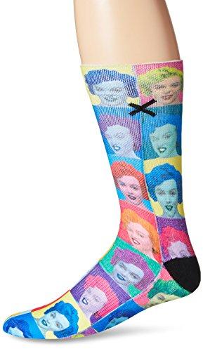 Odd Sox Men's Blondie, Multi, Sock Size:10-13/Shoe Size: 6-12