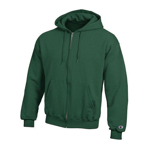 Champion Men's Double Dry Action Fleece Full Zip Hood_Athletic Dark Green_2XL