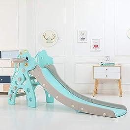 Kimanli Children's Slide, Kids Indoor and Outdoor Slide Frame Climbing Stairs Baby Amusement Park Accessories