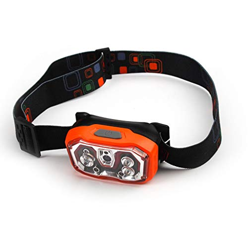 RMXMY USB Rechargeable Sports de Plein air Nuit Course Cyclisme pêche pêche capteur de lumière phares avec lumière Rouge phares Multifonctions