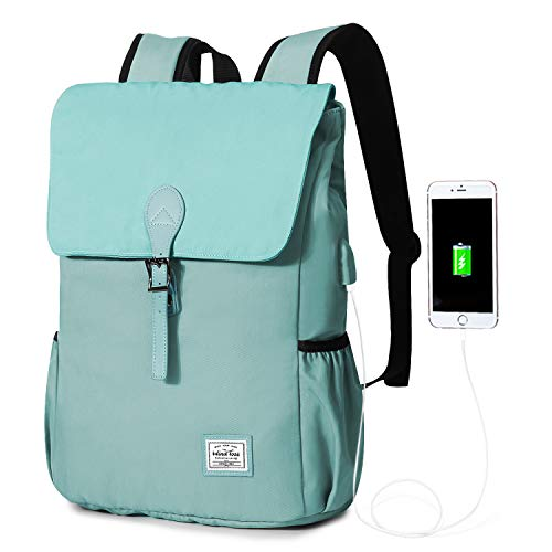 WindTook zaino porta pc 15 pollicio zaino scuola zaino per pc portatile zaino per laptop backpack zaino donna casual zaino uomo con porta USB 29 x 13 x 41 cm azzurro