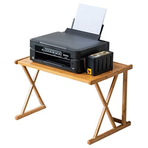 Soportes para impresoras Máquina de la Impresora de la Impresora de la Impresora de bambú Organizador de la máquina de fax Reforzar el Escritorio de la Impresora para el Almacenamiento del Archivo de