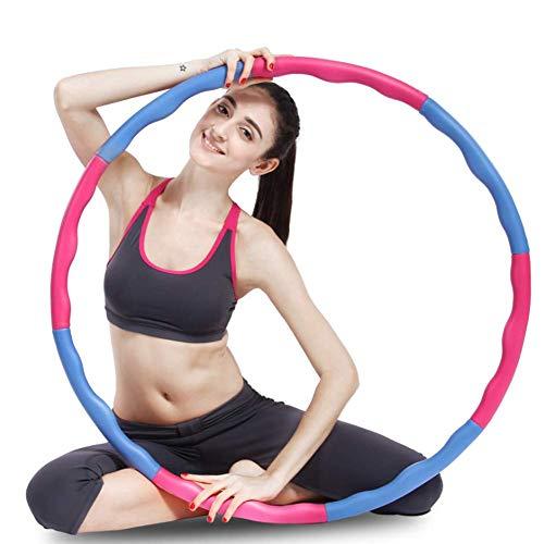 Lady of Luck Hula Hoop Fitness, Aros de Fitness para Adulto Desmontable con Espuma Diámetro Ajustable 8 Secciones Adelgazante Hula Hoop Adecuado para Damas, Hombres, Niños