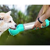 MAILESPET ペット水飲み器 水漏れ防止 携帯用水飲みボトル ウォーキング、旅行、ハイキング用 レイクブルー