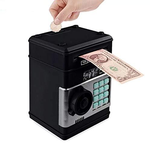 SOOTOP Caja de Dinero Electrónica Caja de Ahorros Automática Mini Cajero Automático Alcancía Digital con Contraseña Caja de Dinero para Efectivo Caja de Dinero para Niños