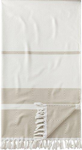 Egeria Saunatuch Pestemal l Weiß Sand l Wellness-Handtuch 100x180cm l Hamam