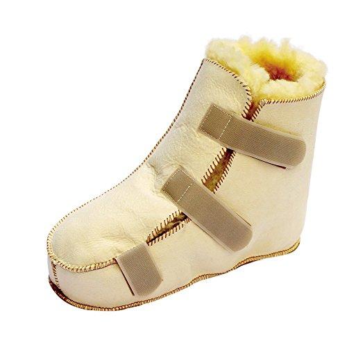 Bota antiescaras Lambskin | Producto Premium | Para pie izquierdo | Fabricado con piel de merino australiano | Máxima suavidad | talla XL