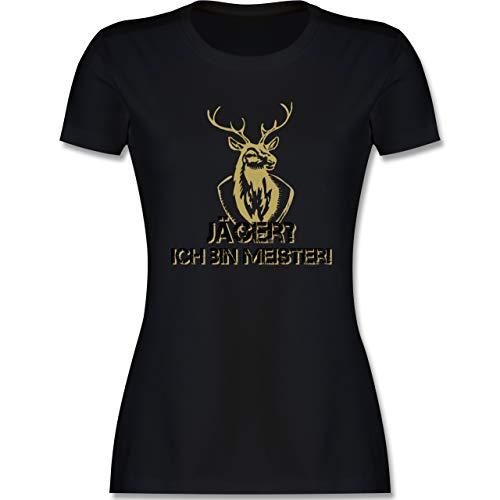 Après Ski - Jäger? Ich Bin Meister! - XL - Schwarz - l191_Shirt_Damen - L191 - Tailliertes Tshirt für Damen und Frauen T-Shirt