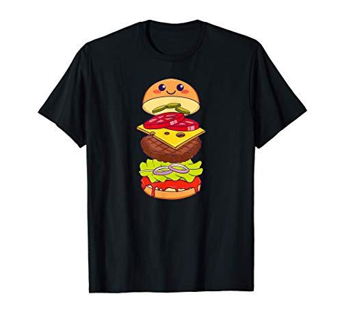 Burger Hamburger Cheeseburger Fastfood Comic Geschenk T-Shirt