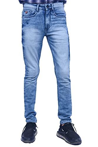 Cartridges Men's Regular Fit 5 Pocket Blue Denim Jeans