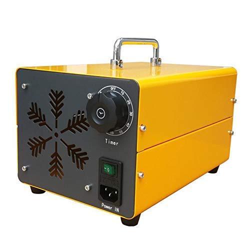 el Ozono Máquina de Purificación de Aire Generador de Ozono Purificador de Aire Portátil Limpiador de Ozono Desinfección de la Máquina Elimina Los Olores Polvo Amarillo-10G / H,40G / H