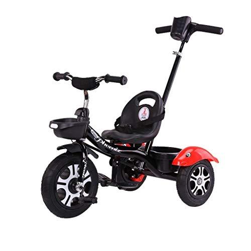 WENJIE Bicicleta Ciclista Bebé De Los Niños 2-en-1 Al Aire Libre Puede Ajustar 1-6 Años Cochecito De Bebé 5 Colores Neumáticos Todo Terreno (Color : Black)