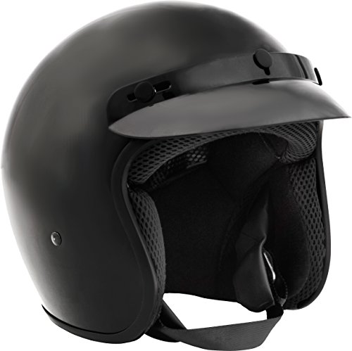 Fuel Helmets SH-OF0015 Unisex-Adult O5 Series Open Face Helmet (Gloss Black, Medium)