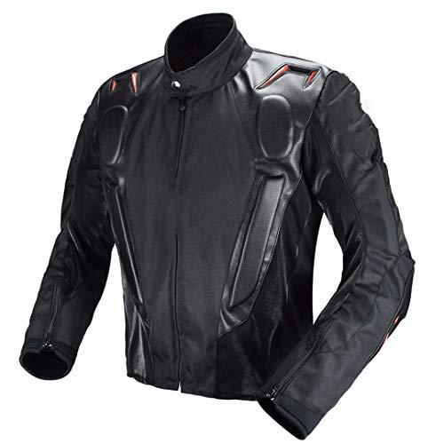 H-MetHlonsy Motocross Racing Jacket PU-Lederjacke Body Armor Schutzausrüstung Moto Motorrad Off-Road Kleidung Schutzbekleidung L