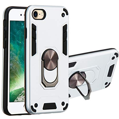 Case for iPhone SE 2020, Rugged Case for iPhone 7/8, Military Grade Protective Phone Case Heavy Duty Metal Ring Holder with Magnetic Car Mount Shockproof Case for iPhone 7/8/SE 2