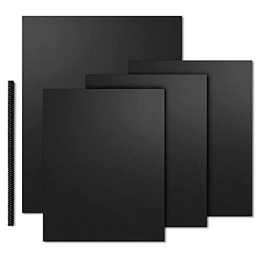 Dauerbackfolie Backpapier - 4 Blatt Backmatte Enthält 1X Hitzeschutzleiste, Antihaft - Backmatte Geeignet zum Grillen, Nachhaltige Produkte Backpapiere Wiederverwendbar Grillzubehör