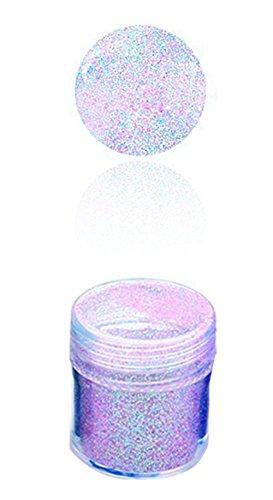 Hosaire - Brillantini/polvere glitter per unghie con gel UV. In acrilico, decorazione per unghie 176, viola