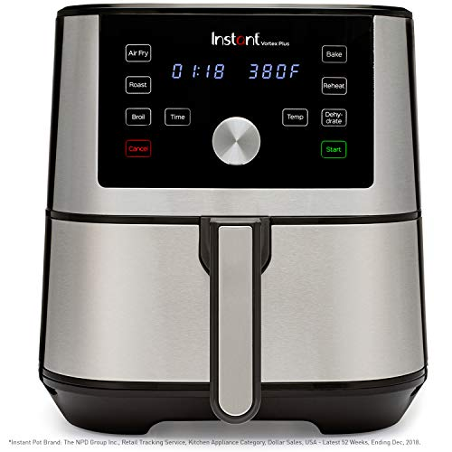 Instant Vortex Plus 6-in-1 Air Fryer, 6 Quart, 6 One-Touch Programs, Air Fry, Roast, Broil,...