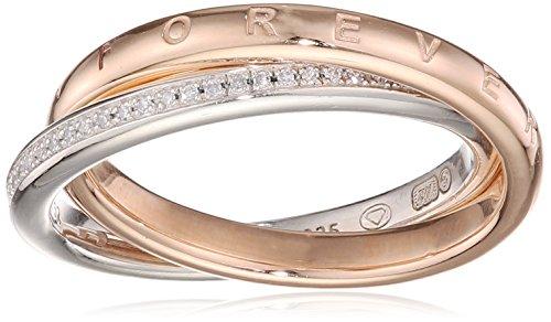 Thomas Sabo Damen-Verlobungsringe Silber_vergoldet mit Diamant \'- Ringgröße 54 (17.2) D_TR0031-095-14-54