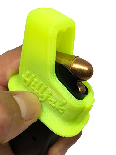 Hilljak 1911 Speed Loader fits Both .45 ACP and 9mm Magazines, Quickie Loader High Viz Yellow