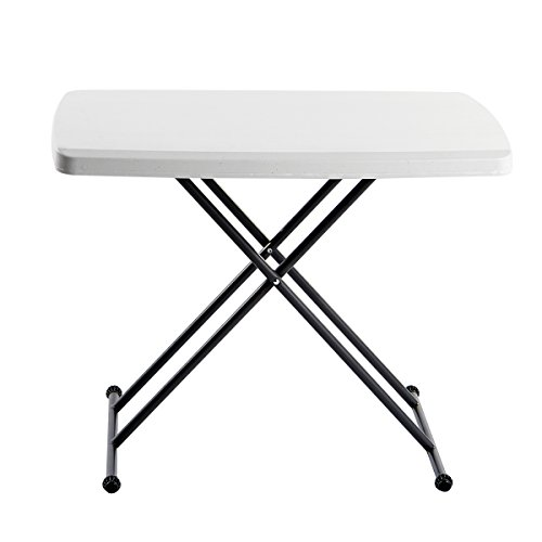 Iceberg - ICE65490 IndestrucTable TOO 1200 Series Resin Personal Folding Table 30 x 20, Platinum