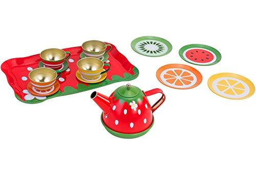 W'TOY- Servizio tè in Metallo, 15 Pezzi, 37962