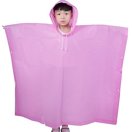 XFentech Mignons de Mode à Capuchon d'EVA Unisexe pour des Vêtements de Pluie Imperméables d'enfants,Rouge,One Size