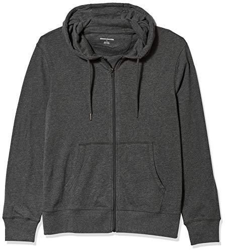 Amazon Essentials Lightweight Jersey Full-Zip Hoodie Fashion, Carbón Heather, US M (EU M)