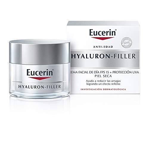 Eucerin Crema dia FPS 15+ ácido hialurónico Hyaluron Filler, 50 ml