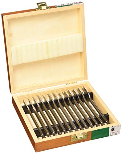 Hikoki 781794 -Set di punte per legno piatte Raccordo 1/4 '' asta esagonale 6-8- 10-12-13-14-16-17-18-19-20-22-25 *13 mm x 150 mm