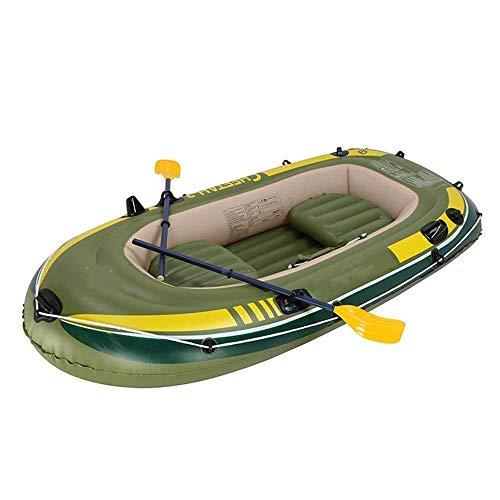 Nologo ZWJ-JJ Asalto Kayak de Goma Barco de remos Barco de PVC Grueso Inflable Kayak es Muy Adecuado for la Pesca a la Deriva al Aire Libre for Fiestas, PVC, Verdes, 248x127CM