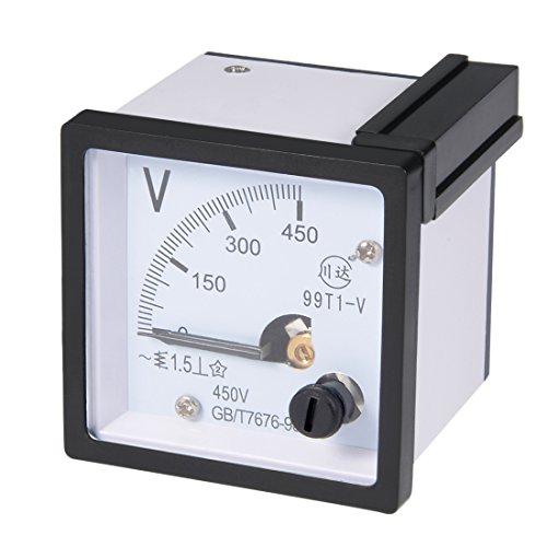 uxcell AC 0-450V Panel analógico Medidor de voltaje Voltio 99T1 1.5% Margen de error