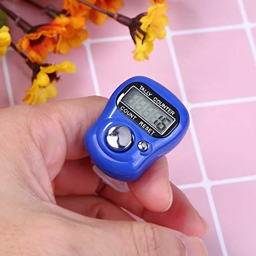 Finger Ring Counter Stitch Marker Row LCD Electronic Digital Tally Counter (Dark Blue)