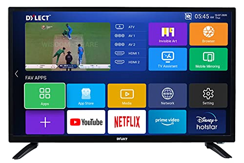 Dylect 80 cm (32 Inches) HD Ready Smart LED TV 32IPS20S (Black) (2020 Model)