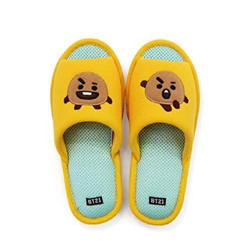 BT21 Zapatillas de interior de malla suave edición Kpop BTS Emoji por Line Friends