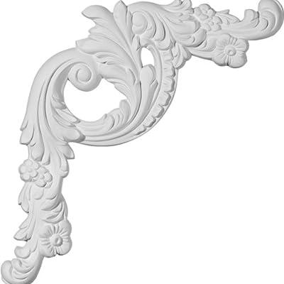 Ekena Millwork 16 1/2 inch W x 18 1/8 inch H x 1 4 inch P Tirana Panel Moulding Corner