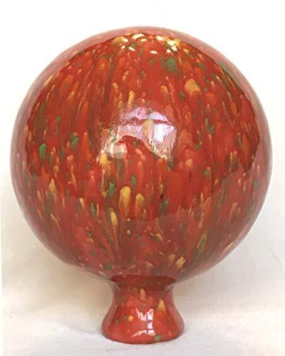 Gartenkugel Rosenkugel rot aus Keramik, Handarbeit, tolle Geschenkidee