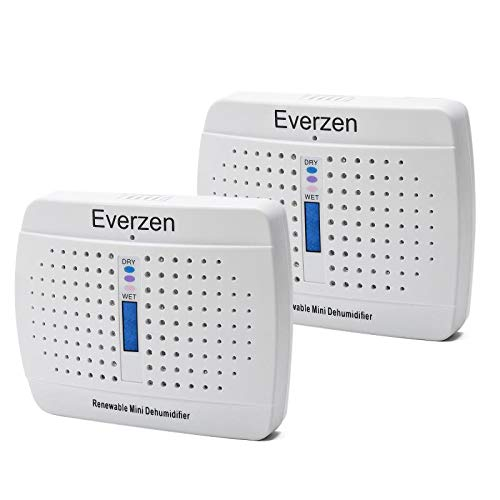 Everzen Rechargeable Mini Dehumidifier, Moisture Absorber for Gun Safe, Closet, Safes, Bathroom, Rust Prevention, Renewable Desiccant Removes Damp Air in Small Space
