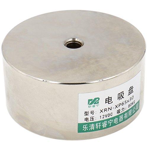 heschen electroimán imán solenoide P65/30, diámetro exterior: 65mm, DC 12V, 80kg/176LB