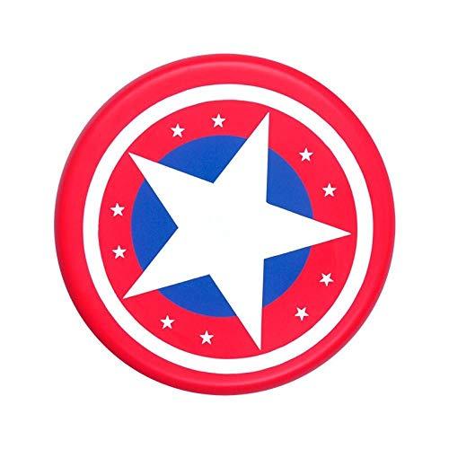 Soft Frisbee Kindergarten Outdoor Sports Child Safety Frisbee Game Parent-child Toy Round UFO-Red star point