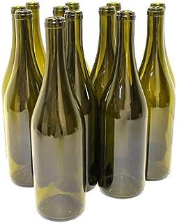 Empty Wine Bottles - Burgundy Style - 750 ml - Green - Case of 12