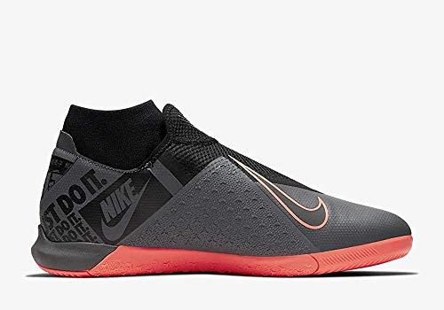 Nike Unisex-Erwachsene Phantom Vision Academy Dynamic Fit Ic Fußballschuhe Adult, Dunkelgrau/Helle Mango/Schwarz, 43 EU